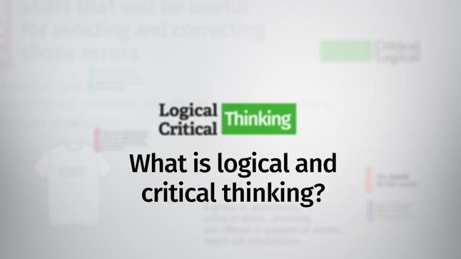 logic and critical thinking course Course in logical and critical thinking, at futurelearn in , view the best master degrees here.